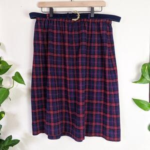 Cape Cod Sportswear | VTG | Plaid Belted Skirt